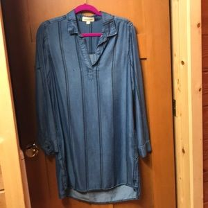 Cloth & Stone Denim T-Shirt Dress